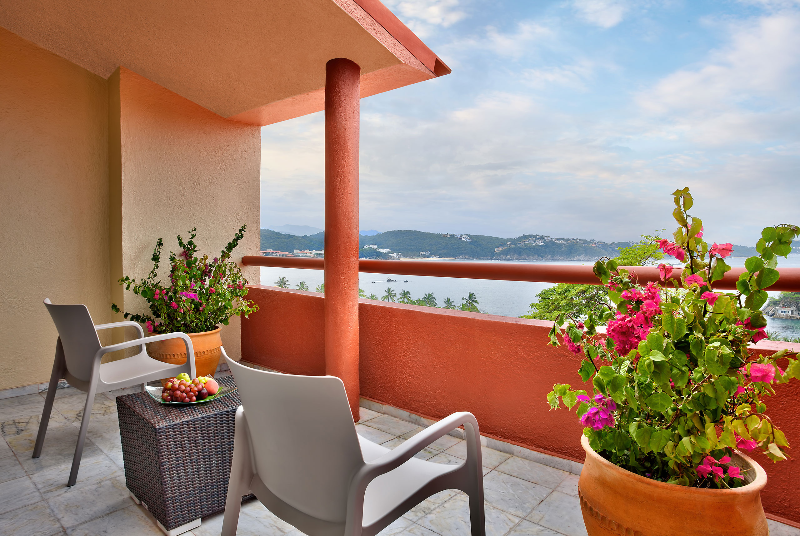 Junior Suite balcony at Hotel Las Brisas Huatulco