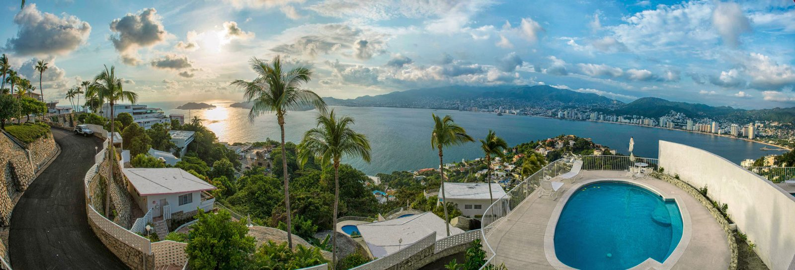 Panoramic view from Las Brisas Acapulco hotel