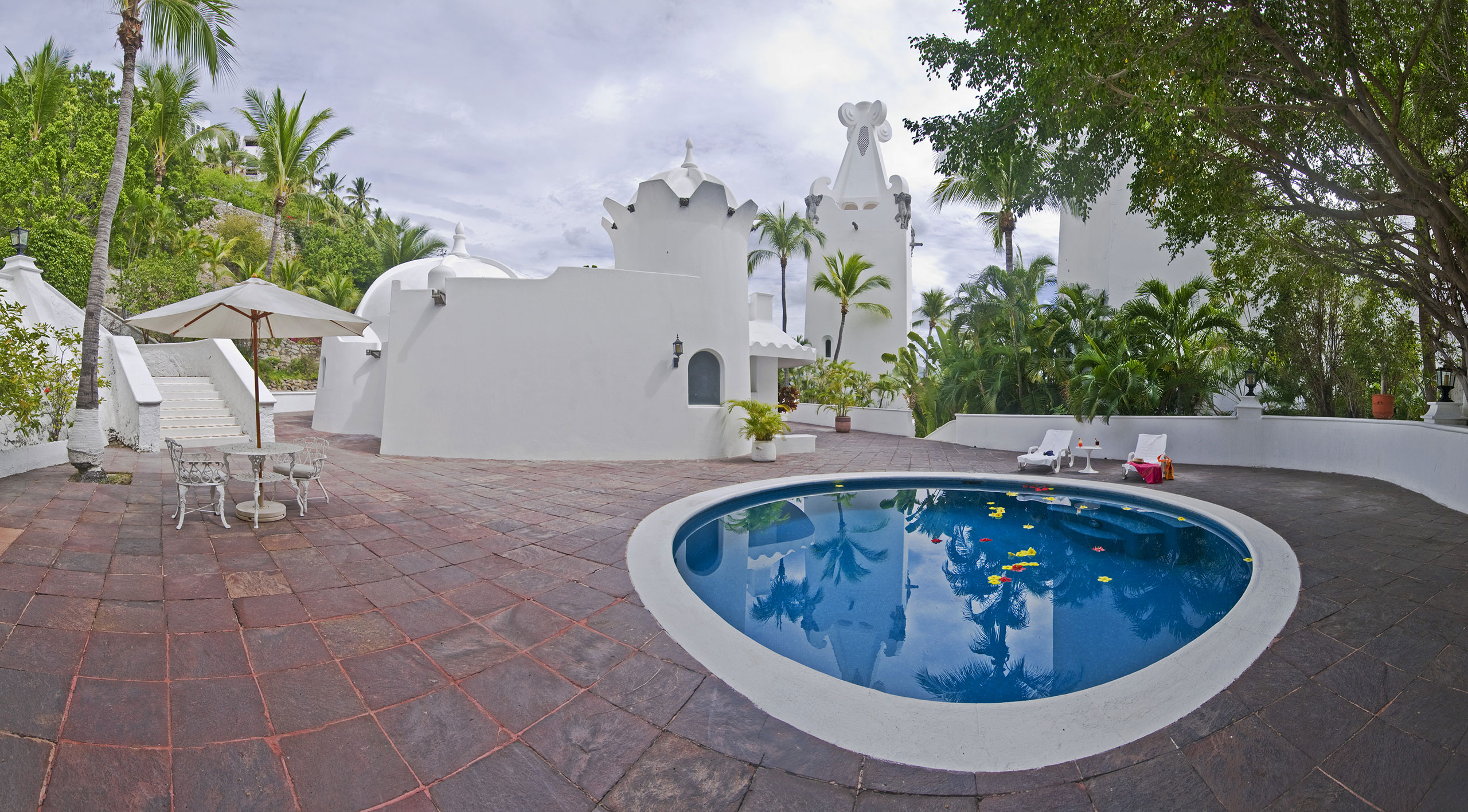 Presidential suite pool at Hotel Las Hadas by Brisas