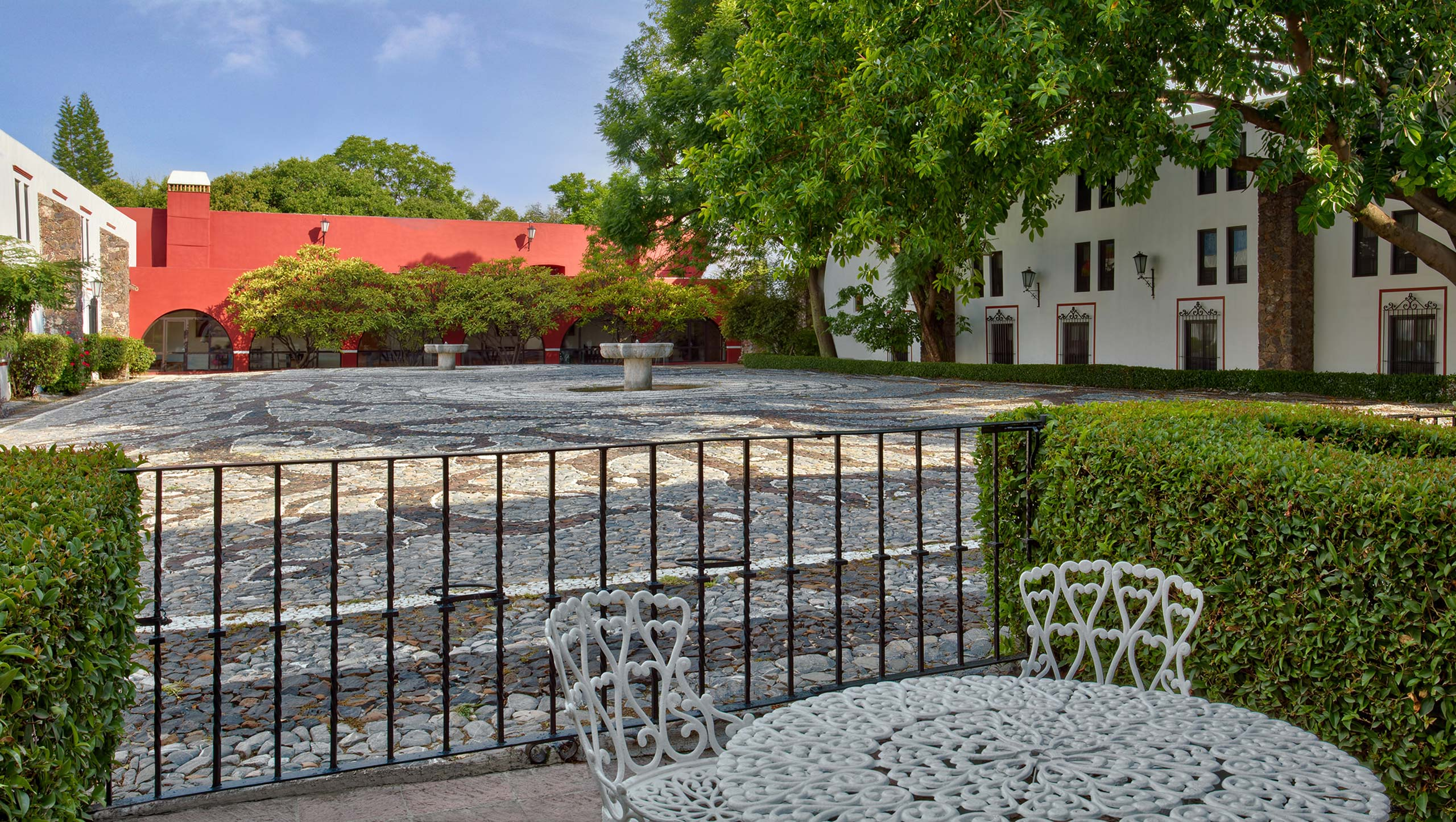 Terrace at Hotel Hacienda Jurica by Brisas Queretaro